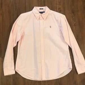 Pink and white striped Ralph Lauren cotton Oxford